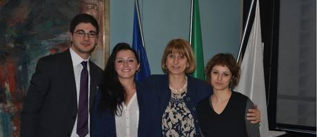 Massimo, Mareike and Lucia, winners of the 2013-2014 Prize