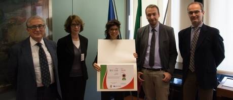 Lara Mannu with the Scientific Committee of the Prize