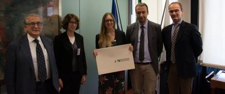 Clara Csilla Romano with the Scientific Committee of the Prize